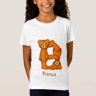 Teddy Bear Alphabet Letter~B~Initial Shirt~Custom T-Shirt