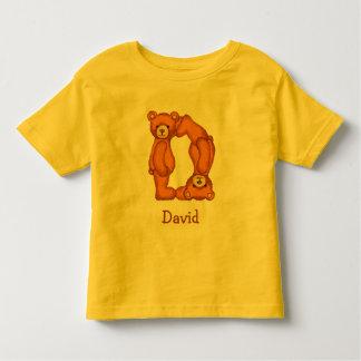 Teddy Bear Alphabet Letter~D~Initial Shirt~Custom Toddler T-Shirt