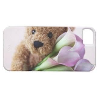 teddy bear and calla lilies iPhone 5 barely there iPhone 5 Cases