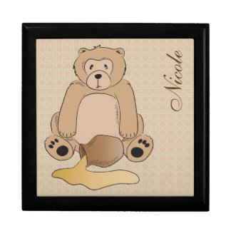 Teddy Bear and the Honey Pot Large Square Gift Box