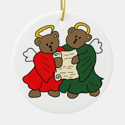 Teddy Bear Angels Christmas Ornament