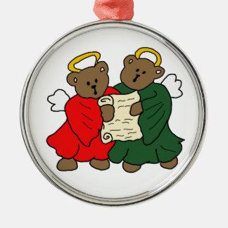 Teddy Bear Angels Christmas Tree Ornaments