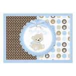 Teddy Bear Baby Boy Baby Shower Blue Invitations