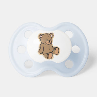 teddy bear baby pacifier