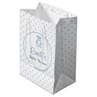 Teddy Bear Baby Shower Favour Bag - Boy