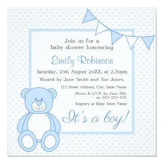 Teddy Bear Baby Shower Invitations - Boy