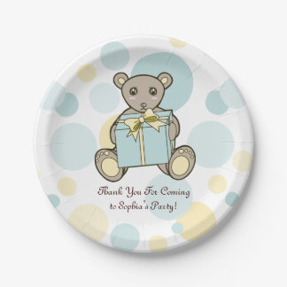 Teddy Bear Baby Shower or Kids Birthday Template Paper Plate