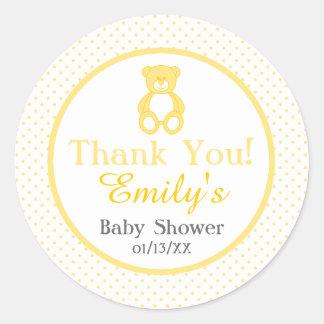 Teddy Bear Baby Shower Stickers - Gender Neutral