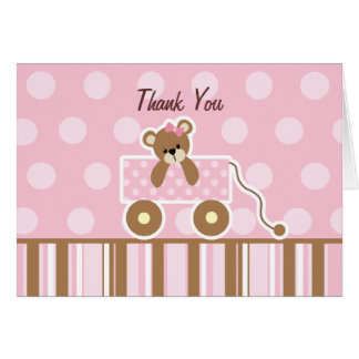 Teddy Bear Baby Shower Thank You Card