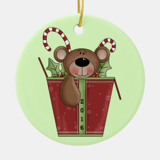 Teddy Bear - Baby's 1st Christmas Ceramic Ornament