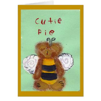 TEDDY BEAR BEE Card