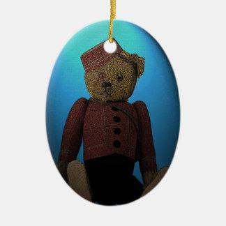 Teddy Bear Bell Hop Christmas Ornament