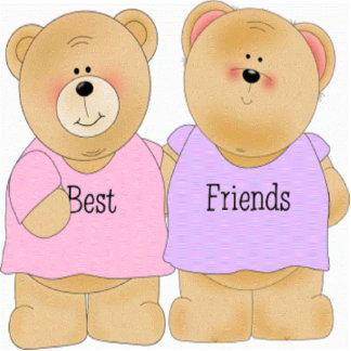 Teddy Bear Best Friends Sculpture Standing Photo Sculpture