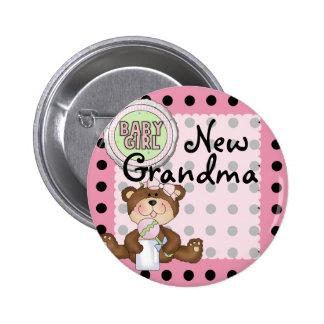 Teddy Bear Black Dot on Pink 6 Cm Round Badge