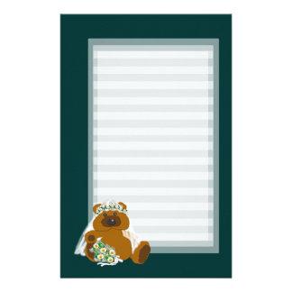 Teddy Bear Bride Customized Stationery