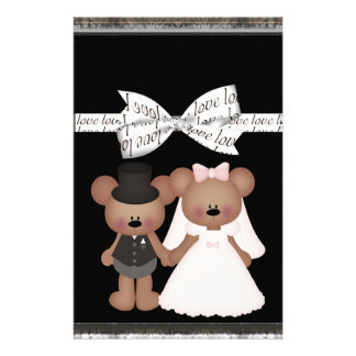 Teddy Bear Bride & Groom Wedding Stationery