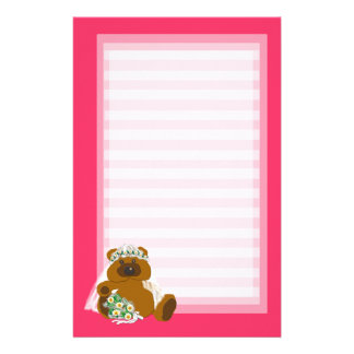 Teddy Bear Bride Personalized Stationery