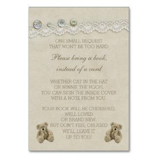 Teddy Bear Bring a Book Instead of a Card