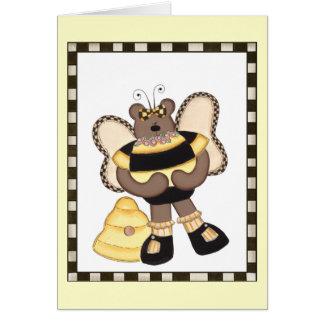 Teddy Bear Bumblebees Card