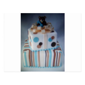 teddy bear cake postcard