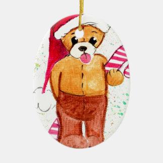 Teddy Bear Ceramic Oval Decoration