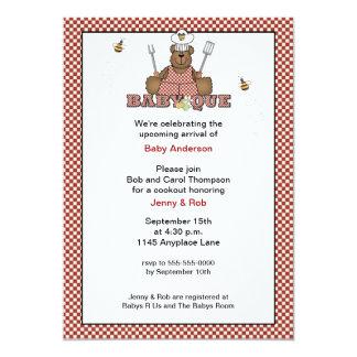 Teddy Bear Chef Baby Shower BBQ Invitation