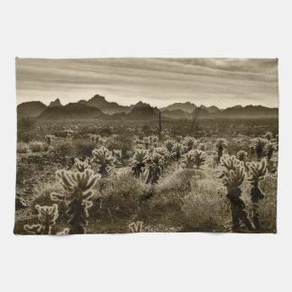 Teddy Bear Cholla Cactus Desert Plant Tea Towel