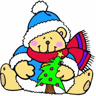 Teddy Bear Christmas Cut Out