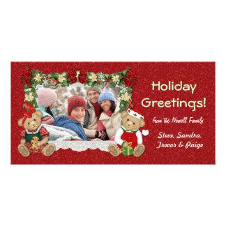 Teddy Bear Christmas Photo Card