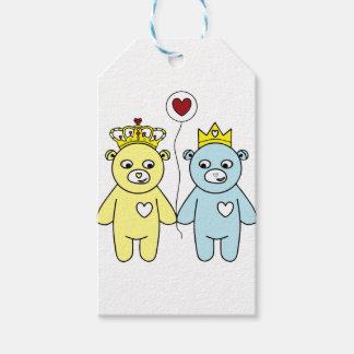 teddy bear couple gift tags