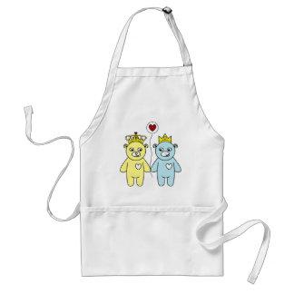 teddy bear couple standard apron