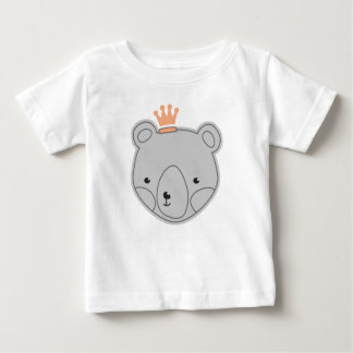 Teddy Bear Crown Baby T-Shirt