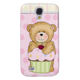 Teddy Bear Cupcake Party Galaxy S4 Case