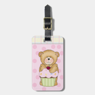 Teddy Bear Cupcake Party Luggage Tag