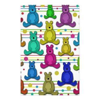 Teddy bear customized stationery
