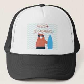 Teddy bear cute adorable beach funny theme trucker hat