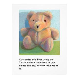 Teddy bear cute fun unique original art drawing flyers