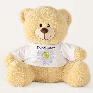 Teddy Bear - Daisy Bear - Daisy On White