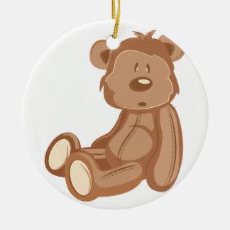 Teddy Bear Round Ceramic Decoration
