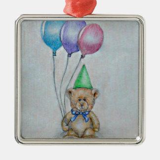 teddy bear christmas ornament