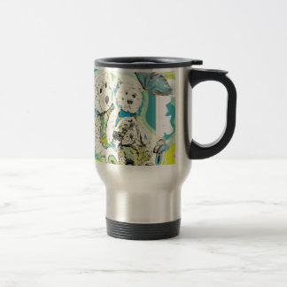 Teddy Bear Design Blue & Green Mugs