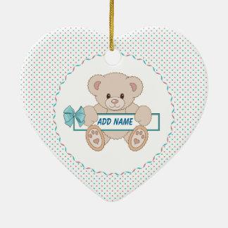 Teddy Bear Design Ceramic Heart Decoration