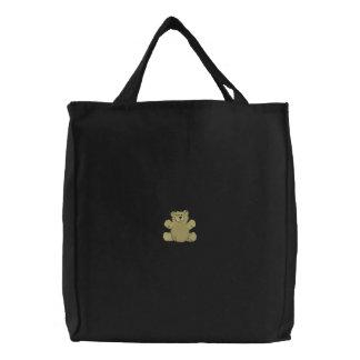 Teddy Bear Embroidered Bag
