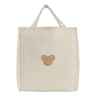 Teddy Bear Face Embroidered Bags