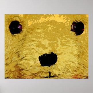 Teddy Bear Face Poster