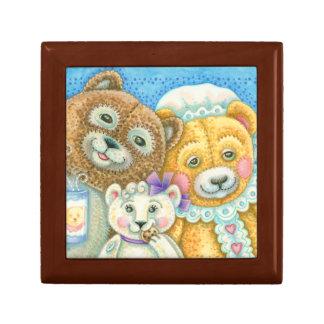Teddy Bear Family Bruin TILE GIFT JEWELRY BOX