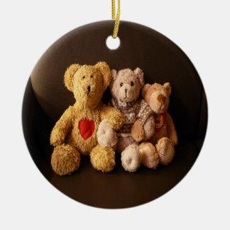 Teddy Bear Family Christmas Tree Ornaments