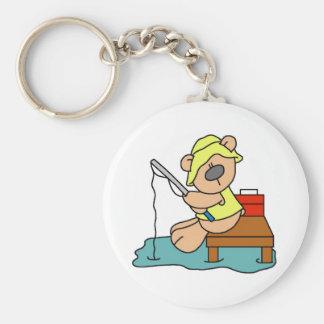 Teddy Bear Fishing Key Chain