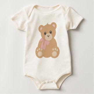 """Teddy Bear"" for Girls Baby Bodysuit"