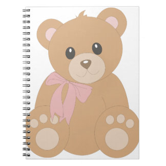 """""""Teddy Bear"""" for Girls Spiral Note Book"""